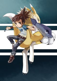 Digimon Tamers. Season Three. Rika and Renamon. <3