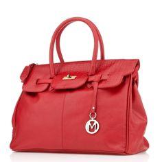 Manzoni Scarlet Colour Handbag TVSN