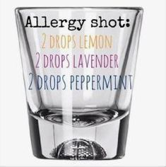 Add 2 drops of each doterra essential oil, add water, take a shot. I refill the glass with water and drink again to make sure all the oils are ingested. Take times a day. Essential Oils Allergies, Essential Oil Diffuser Blends, Doterra Essential Oils, Young Living Essential Oils, Doterra Allergies, Uses For Essential Oils, Essential Oil For Hemorrhoids, Sinus Allergies, Essential Oils Cleaning