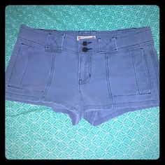 Hollister Shorts Super cute Hollister shorts with side rips.  Fabulous condition...no wear.  Size 7 Hollister Shorts