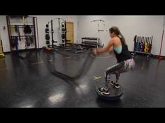 WOW! Look at her go. 27 Battle Rope Exercises | The Body Department