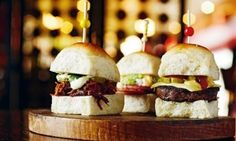 Porteno cheeseburgers and pulled pork buns