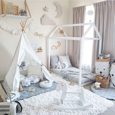How amazing is this toddlers play room  Our pearly moon teepee is the perfect addition for your little human to unleash their imagination ✨ Thank you @tamraellis for creating this amazing space  #kidsdecor #kidsstyle #cattywampus #nurserydecor #love #fun #kidsroom #playspace #kidsfun #imagination #dream #interiordesign #styling #nursery #kids