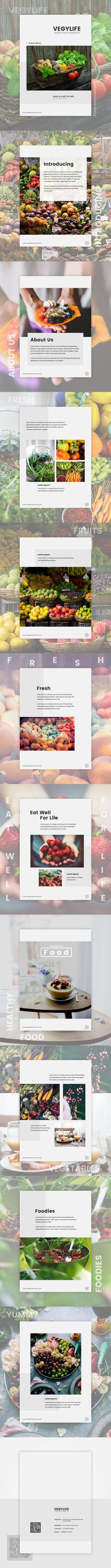 #brochure #food #VEGYLIFE #fruits #vegetables #healthy food #graphics design #print media