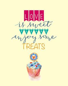 Sweet Treats Calligraphy and Typography  by PapersAndPastels, ₱200.00
