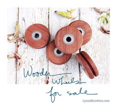 Wood Wheels for sale for DIY barn door sliding hardware. Tutorial on the blog! http://www.lynneknowlton.com/product/buy-wood-wheels/