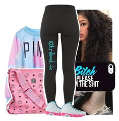 """""""Disrespectful-Trey Songz"""" by trillest-k ❤ liked on Polyvore featuring MCM and NIKE"""