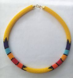 Zulu necklace, Zulu beaded necklace, African necklace, South Africa necklace, Maasai necklace, Ethnic necklace, yellow beads necklace Rope Jewelry, Leather Jewelry, Beaded Jewelry, Beaded Necklace, Jewlery, Africa Necklace, Men Necklace, African Beads, African Jewelry