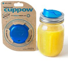 Cuppow! Kind of cool if you use Mason jars as cups