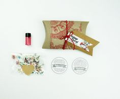 vintage floral gift box- 7 vintage illustration temporary tattoos and vial of liquiskin shine remover- choose your gift wrap