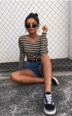 A selection of cute summer outfits to try this summer. Street Style Outfits, Mode Outfits, Fashion Outfits, Casual Fall Outfits, Winter Outfits, Hipster Summer Outfits, Outfit Stile, Style Pastel, Moda Hipster