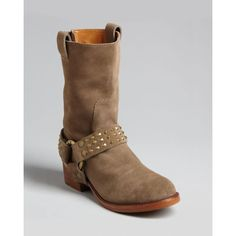 Zadig & Voltaire Harness Moto Booties - Roady ($315) ❤ liked on Polyvore