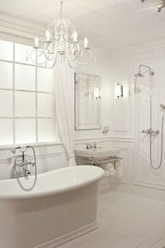 Like the shower with extra handheld head for rinsing feet or kids. Home Bedroom, Open Showers, Wet Rooms, Room Inspiration, Victorian Bathroom, Bathrooms Remodel, Accessible Bathroom, New Homes, Master Bathroom
