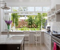 "It doesn't matter how far you live from the beach; a fresh white kitchen that opens to the outdoors can have a cool and casual coastal vibe. [See more of this Perth cottage](http://www.homestolove.com.au/before-and-after-kirk-and-suzannes-perth-cottage-renovation-2325/?utm_campaign=supplier/|target=""_blank""). Photo: Angelita Bonetti / *Australian House & Garden*: [object Object]"