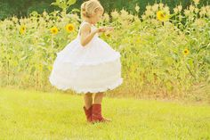 dress and red boots. i love little girls clothes