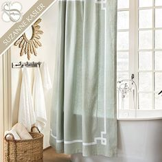 Suzanne Kasler Greek Key Shower Curtain by Ballard Designs