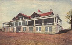 Chattanooga Tennessee Golf And Country Club Exterior Antique Postcard V22158