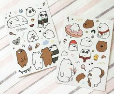 We Bare Bears: Grizz, Panda, Ice bear (stickers)