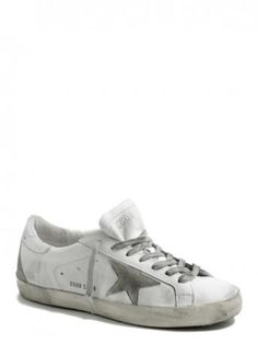 Golden Goose-sneakers super star white silver cream sole-Golden Goose shop online