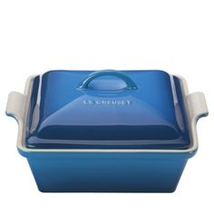 Le Creuset 2.5-Quart Stoneware Covered Square Casserole Dish  - Marseille/Dark Blue Le Creuset, Cooking Gadgets, Kitchen Gadgets, Pip Studio, Home Technology, Dinner Ware, Dinner Plates, Booth Design, Carnival Glass