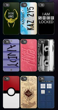 Fandom phone cases.