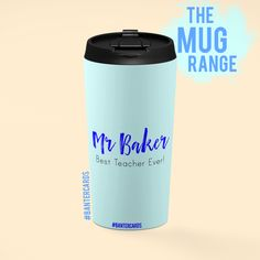 Do you know the World's Best Teacher? Best Teacher Ever, Your Teacher, Mr Baker, Coffee Flask, Customised Gifts, Travel Mugs, Laptop Case, Gifts For Him, Traveling By Yourself