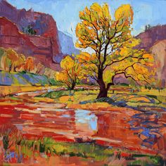 Zion National Park Utah Cottonwoods by redrockfineart on Etsy, $2500.00