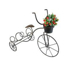 Bicicleta de Ferro Porta Vinho e Vaso <br> <br> <br> <br>Produto artesanal feito em ferro e arame recozido, pintado com esmalte sintético e verniz para uma melhor proteção e acabamento na peça. <br> <br> <br> <br>Muito prática e decorativa <br> <br> <br> <br>Dimensões do Produto: <br> <br> <br> <br>50cm de altura <br> <br> <br> <br>35cm de largura <br> <br> <br> <br>75cm de comprimento <br> <br> <br> <br> <br> <br>O vaso com flores não acompanha o produto <br> <br> <br> <br> <br> <br>PRAZO…