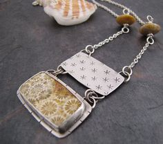 Hide Away - Coral set in Sterling Silver Necklace | Flickr - Photo Sharing!