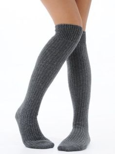 3e7a0bbbf Womens Slouch Rib Knee Socks Cashmere Virgin Wool Blend Sock 8 Color Options  Black Brown Plum Taupe Royal Blue Glass Gray Olive or Merlot