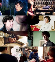 """How is life with Sherlock? Horrible, I imagine."" ""Oh, yes, I'm never bored."""