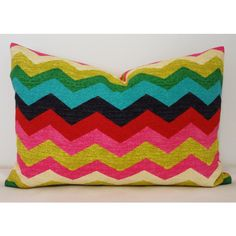 Inventory Reduction Waverly Panama Wave Multi-Color Zig Zag Chevron... ($18) ❤ liked on Polyvore featuring home, home decor, throw pillows, decorative pillows, grey, home & living, home décor, cotton throw pillows, chevron throw pillows and multi color throw pillows