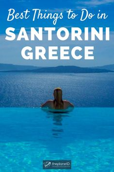 25 of The Very Best Things to Do in Santorini | Forget taking a cruise and spending just one short day in Santorini. Instead, book a luxury cave hotel suite with a beautiful infinity pool overlooking the most incredible views of the Aegean Sea you'll ever witness. If you follow our Santorini guide you too will fall in love with Santorini too. | Blog by the Planet D #Travel #Santorini #Greece | what to do in santorini | things to do in santorini | santorini things to do in European Destination, European Travel, Greatest Adventure, Adventure Awaits, Travel Pictures, Travel Photos, Us Travel, Travel Tips, Bucket List Holidays