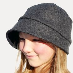 Grey wool capDesigner hat for women ©Zutkiki cloth cap by ZUThats