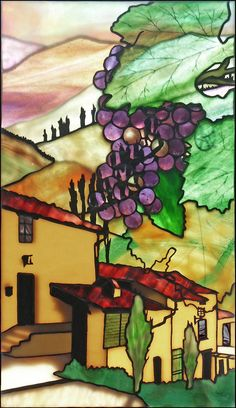 Tuscany by Robert Oddy - Robert Oddy Stained Glass Artist
