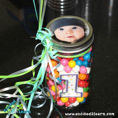 Great idea for a birthday party centerpiece!