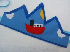 for sailor kids :) / keçe taç modeli