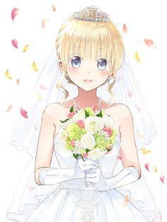Boarding School Juliet (vol 16 extras) Pretty Anime Girl, Kawaii Anime Girl, I Love Anime, Anime Art Girl, Anime Girls, Anime Chibi, Manga Girl, Blondes Anime Girl, Mode Cyberpunk