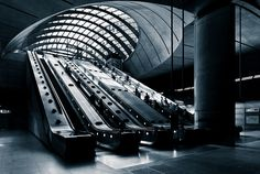 The dramatic entrance to Canary Wharf station on the London Underground. http://www.roehampton-online.com/About%20Us/Roehampton%20London.aspx?4231900