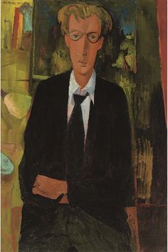 'Owen (Oska) Wood' by John Minton, Owen Wood was a pupil of Minton's at Camberwell School of Art and became part of a group of young men known as 'Johnny's Circus'. John Minton, Planes Of The Face, Conceptual Art, New Artists, Painting Techniques, Portraits, Caricature, Illustration Art, Young Men