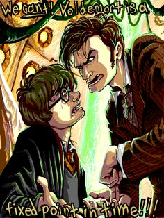 The Doctor teaches young Mr. Potter somethings about Time Travel.        I. CAN. NOT.