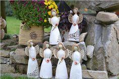Andělka / Zboží prodejce RMdesign   Fler.cz Pottery Angels, Clay Houses, Clay Fairies, Cold Porcelain, Homemade, Sculpture, Christmas Ornaments, Angeles, Fairy