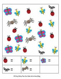 Printable Preschool Worksheets, Kindergarten Math Worksheets, Preschool Math, Homeschool Kindergarten, Math Activities For Kids, Math For Kids, Kids Education, Learning Activities, Kids Activity Ideas