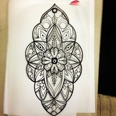 I can't wait to get a Mandala tattoo - vintage style