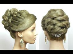 Bridal Prom Hairstyle For Long Hair Tutorial. Romantic Updo - YouTube