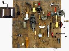 Daniel Spoerri - love the way all the objects look so organised and tidy!