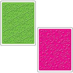 Sizzix Floral Flourishes and Vines Textured Impressions Embossing Folders