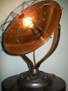 Antique-Adjustable-Art-Deco-Heater-Industrial-Steampunk-Table-Desk-Search-Lamp