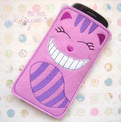 WONDERLAND CAT CASE device case, iphone case, cell phone carry case, felt phone…