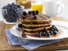 There is perhaps no more classic weekend breakfast than a stack of blueberry pancakes.